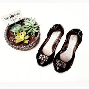 🎉Coach Dora Patent Leather Black Ballet Flats🎉